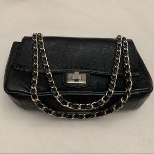 Leather Purse Chain Link Crossbody Bag
